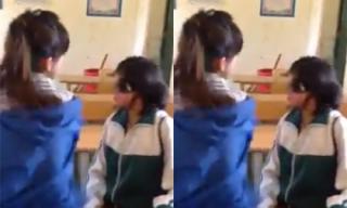 Phẫn nộ nữ sinh lĩnh trọn 50 cái tát đến chảy mãu mũi của bạn học