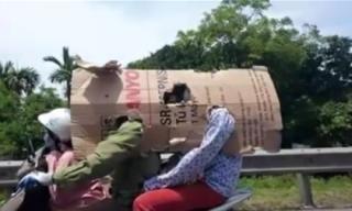 Muôn kiểu chống nắng 'khó đỡ' chỉ có ở Việt Nam