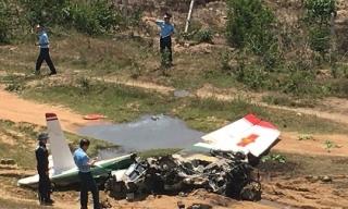 Clip hiện trường vụ rơi máy bay ở Khánh Hòa, 2 phi công tử nạn