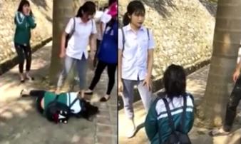 Xôn xao clip nữ sinh Yên Bái đánh bạn dã man trước sự dửng dưng của những người chứng kiến