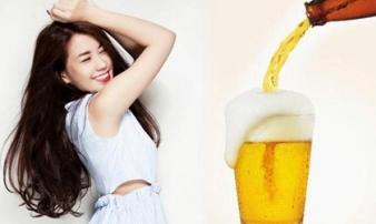 Cách làm đẹp từ bia cho da trắng sứ đón Tết