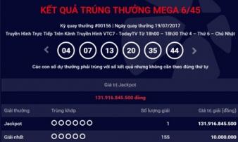 Kết quả Vietlott ngày 19/7: Giải Jackpot 131 tỷ đã tìm thấy chủ nhân