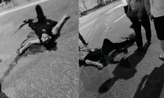 Truy sát kinh hoàng ở HN, nam thanh niên bị đâm gục giữa đường