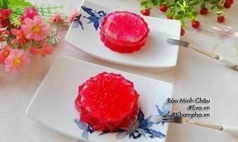Bánh trung thu thạch rau câu vị thanh long đỏ nhân đậu xanh: Không cần lò nướng vẫn làm được