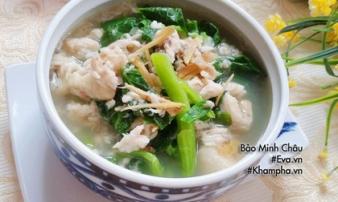 Bí quyết nấu canh rau cải cá rô đồng ngọt lịm tim, không tanh nước