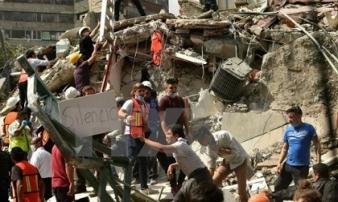 Sập trường tiểu học ở Mexico, 21 học sinh tử nạn