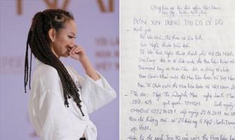 Tiết lộ lá đơn viết tay của Mai Ngô tố BTC Hoa hậu Hoàn vũ gây ảnh hưởng tâm lý