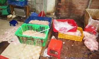 TP.HCM: Phát hiện gần 30 tấn lòng, thịt heo bẩn chuẩn bị đưa đi tiêu thụ