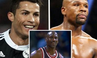 Siêu sao kiếm 15 tỷ đô, số 1 địa cầu: Mayweather + Ronaldo + Messi vẫn thua