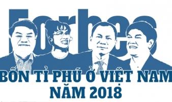 'Cận cảnh' 4 gương mặt tỉ phú đô la của Việt Nam