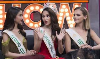 Hoa hậu Hương Giang thẳng thắng đáp trả tin đồn mua giải trước truyền thông Thái Lan
