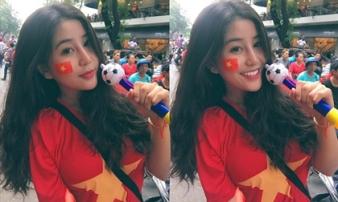 Fan girl U23 Việt Nam được báo Hàn ca ngợi đẹp như nữ thần