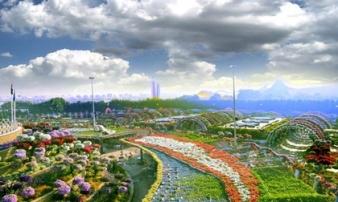 Vườn hoa tự nhiên khổng lồ đẹp nhất thế giới ở Dubai gây sửng sốt
