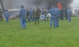Vụ rơi máy bay quân sự tại Algeria: Gần 260 người đã thiệt mạng