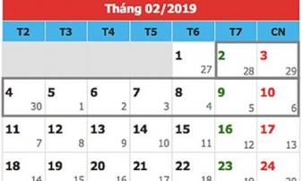 Tết 2019 người lao động sẽ được nghỉ 9 ngày liên tục?