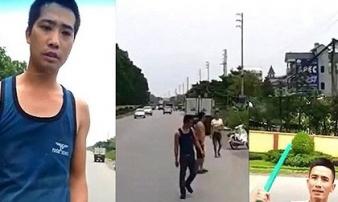 Triệu tập 4 thanh niên cầm hung khí chặn đầu xe tải