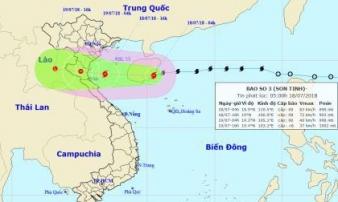 Tin mới thời tiết 18/7: Chiều nay tâm bão số 3 đổ bộ vào các tỉnh từ Hải Phòng-Hà Tĩnh