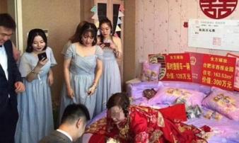 Cô dâu chú rể nhận 1.700 tỷ đồng hồi môn từ bố mẹ vợ khiến dân mạng choáng váng