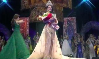 Phương Khánh đăng quang Hoa hậu Trái đất 2018