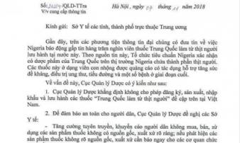 Bộ Y tế thông tin chính thức về 'thuốc từ thịt người' xuất xứ Trung Quốc