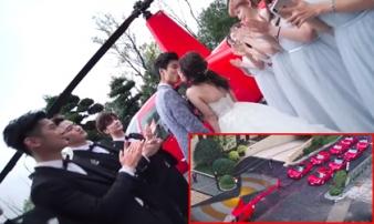 Dùng trực thăng và 8 chiếc Ferrari đỏ chói đi rước dâu, chú rể Trung Quốc khiến dân tình 'lác mắt'