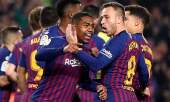 Barca 1-1 Real Madrid: El Clasico bất phân thắng bại trong ngày Messi ngồi dự bị