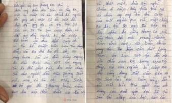 Truy tìm tên cướp bí ẩn gửi thư xin lỗi, trả lại nạn nhân 100 triệu