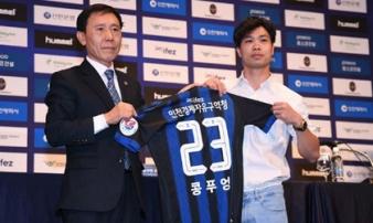 Công Phượng đến Incheon United nhận lương 'khủng' thế nào ở Hàn Quốc?