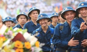 Nụ cười của những tân binh ngày nhập ngũ