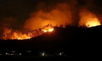 Hà Tĩnh: Lại cháy rừng tại Hương Sơn, sơ tán dân trong đêm