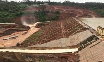 Nóng: Đã khắc phục được một phần sự cố ở Hồ thủy điện Đắk Kar