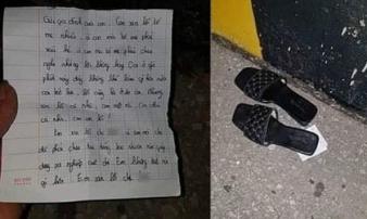 Áp lực nợ nần, thiếu nữ 2 lần lên cầu để lại đôi dép và thư tuyệt mệnh rồi... về nhà đi ngủ