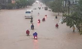 Trận mưa lớn khủng khiếp ở Thái Nguyên lập kỷ lục trong 30 năm trở lại đây