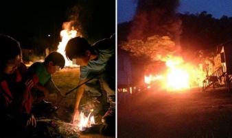 Hai anh em trai châm lửa đốt 12 ngôi nhà vì muốn biết lính cứu hỏa làm việc như thế nào