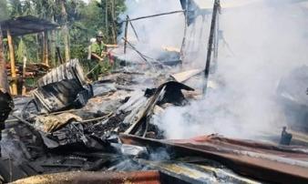 Quảng Nam: Nhà bị thiêu rụi khi đang làm thịt xông khói ăn Tết