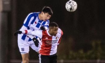 Văn Hậu cho thấy thân hình lực lưỡng trong đội ngũ Jong Heerenveen