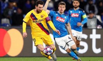 Barca thoát thua trước Napoli trong ngày Messi im tiếng