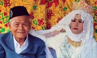 Chú rể 100 tuổi kết hôn với thiếu nữ đôi mươi, ngượng ngùng chia sẻ về đêm tân hôn