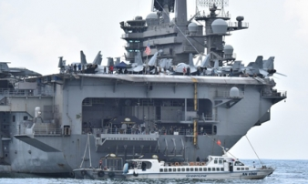 CNN: 25 thủy thủ dương tính trên tàu sân bay Mỹ từng ghé Việt Nam