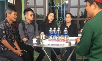 Hương Giang và Matt Liu âm thầm đến chia buồn cùng gia đình liệt sĩ hy sinh trong vụ sạt lở Rào Trăng 3