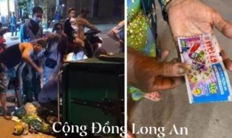 Long An: Cả xóm lục tung từng thùng rác giữa đêm khuya để tìm 12 tờ vé số trị giá 180 triệu