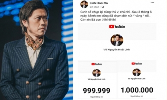 NS Hoài Linh khoe thành tích khủng trên Youtube, mới gia nhập đường đua đã nhận được nút vàng