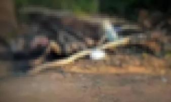 Hà Tĩnh: Thi thể người đàn ông bị thiêu cháy ở nghĩa trang