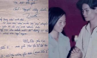 Con gái khoe ảnh bố 20 năm trước, điển trai lãng tử cùng lá thư tay 'tán gái' khiến thanh niên ngày nay phải nể