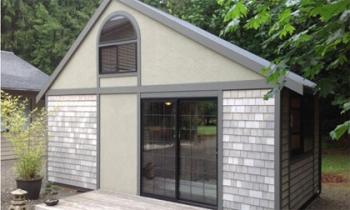 Ngôi nhà nhỏ Nhật Bản nổi bật giữa nước Mỹ
