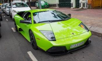 Lamborghini Murcielago xanh cốm độc nhất Việt Nam khoe dáng tại Sài Gòn