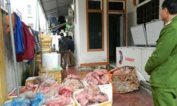 Hà Tĩnh: Phát hiện 1,2 tấn thịt, nội tạng động vật không rõ nguồn gốc