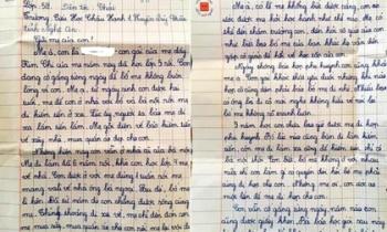 Xót xa bức thư bé gái lớp 5 gửi mẹ đi lấy chồng