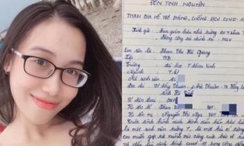 Nữ sinh trường Y viết đơn xin tham gia phòng chống dịch: 'Không có bài học nào giá trị hơn là xông pha ngoài mặt trận'