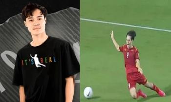 Mẫu áo lấy cảm hứng từ 'cú ngã 1 phát ăn ngay penalty' của Văn Toàn gây 'sốt' không tưởng